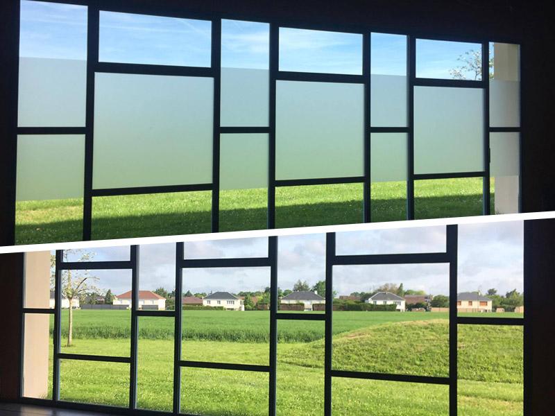 brise vue verre depoli beautiful pare vent en verre sur. Black Bedroom Furniture Sets. Home Design Ideas